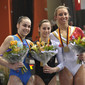 Worldcup Cottbus 2010: podium uneven bars