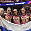 ART ECh Glasgow/GBR: team RUS with flag
