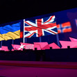 ART ECh Glasgow/GBR: screen with flags
