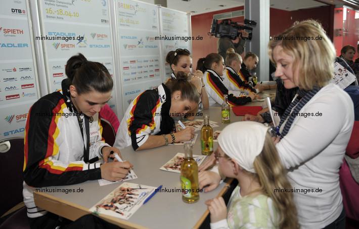 RG-EC-Bremen: autographs from GER team