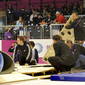 Women's ECh-Brussels: Janssen&Fritsen preparing floor