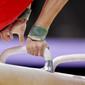 Men's ECh-Montpellier 2012: pommel horse, detail hands
