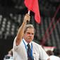 Men's ECh-Montpellier 2012: judge with flag