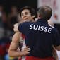 Men's ECh-Montpellier 2012: YUSOF Eddy/SUI + coach