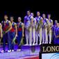 Men's ECh-Montpellier 2012: podium GBR+RUS+ROU