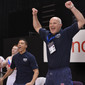 Men's ECh-Montpellier 2012: coach POPOV Andrei/GBR celebrating