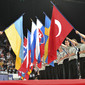 Men's ECh-Montpellier 2012: flags ceremony before competition starts
